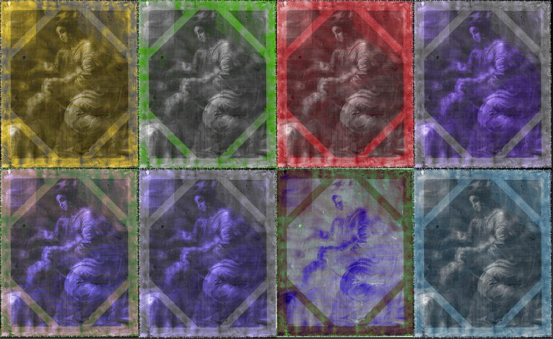 Spectral X-ray Images Madonna and Child Painting