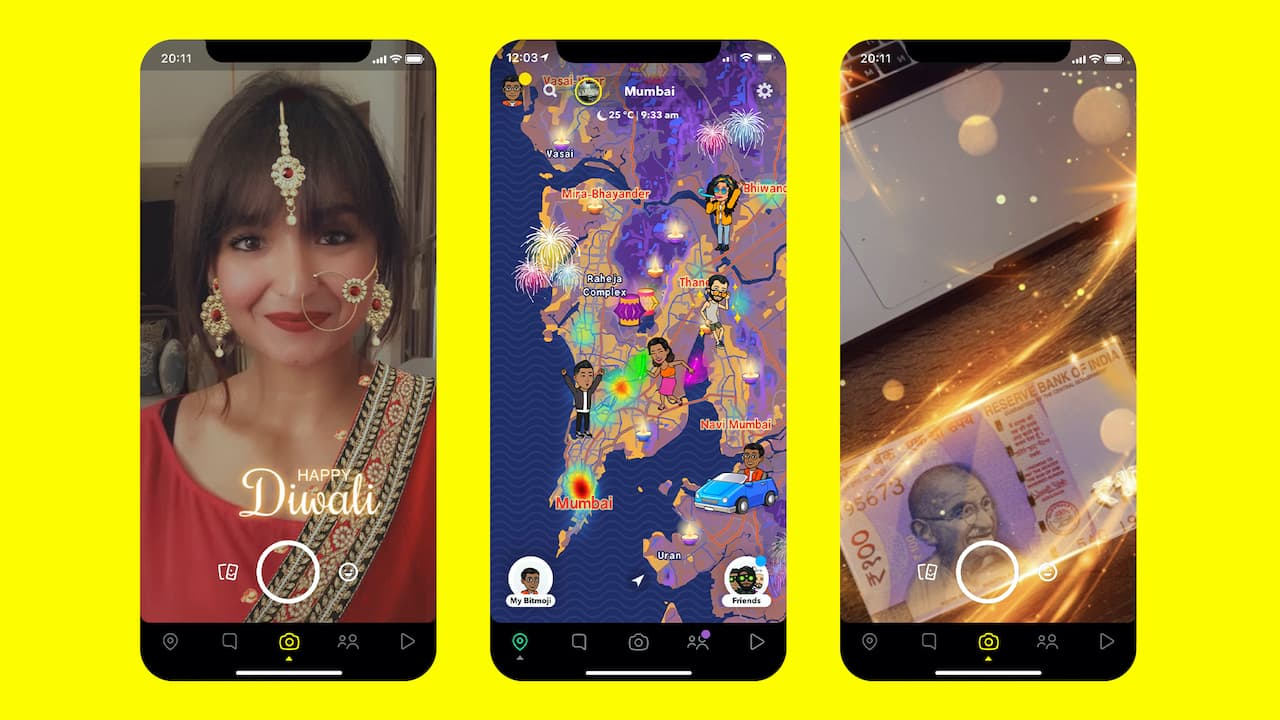 Diwali 2020: Snapchat releases several festive lenses, stickers and features