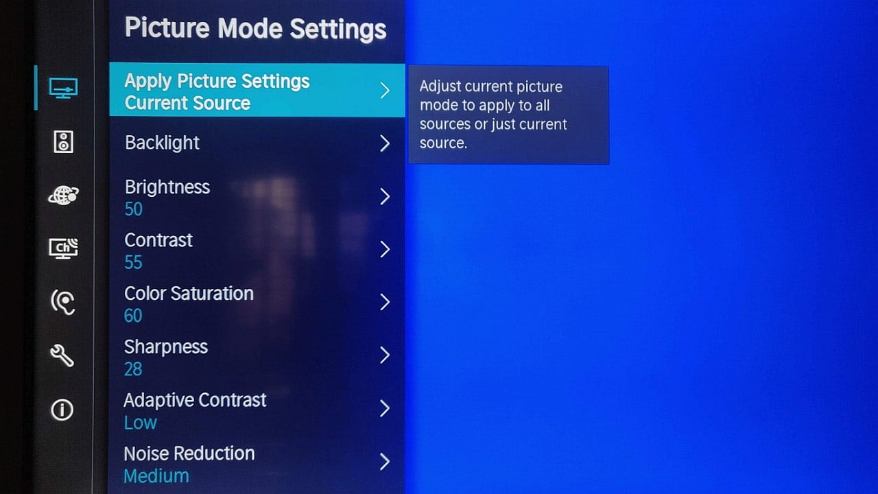 Toshiba 50U5050 4K Smart TV UI settings