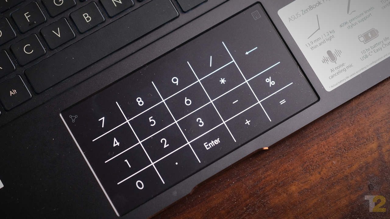 This touchpad/numpad combo is certainly interesting, but I question its utility. Unless you're entering a tonne of numbers into an excel sheet or something, it's far quicker to just use the row of numbers on the actual keyboard. Image: Anirudh Regidi