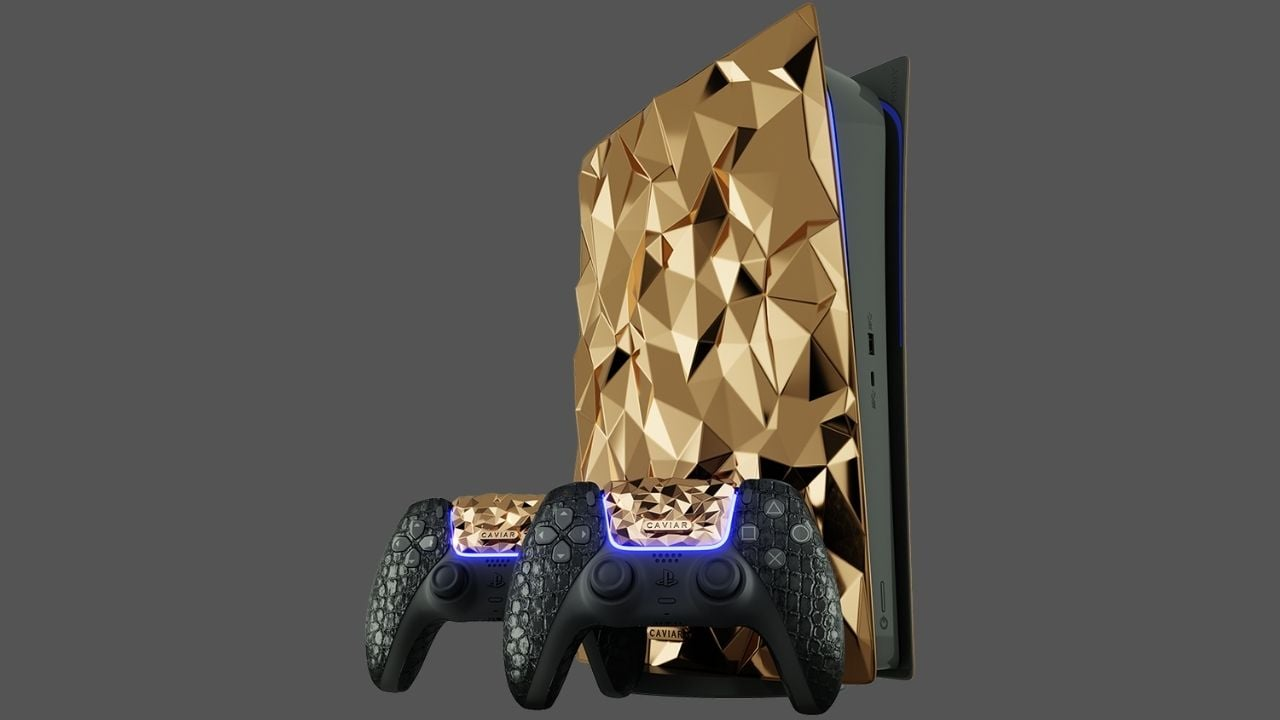Sony PlayStation 5 Golden Rock edition made of 20 kgs 18-karat gold unveiled by Caviar