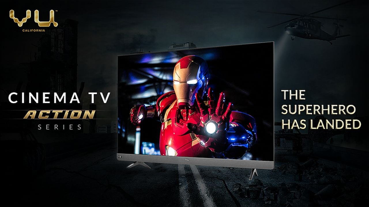 Vu Cinema Action TV series with 100 W speakers, 4K support launched at a starting price of Rs 49,999