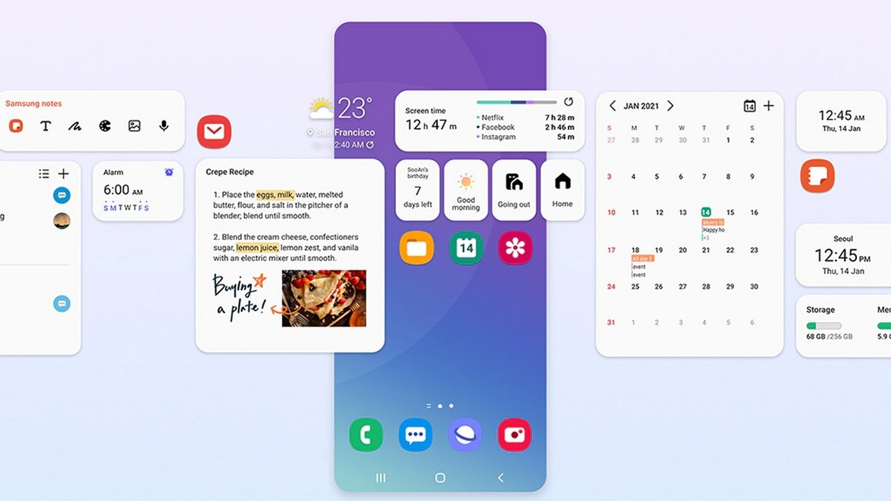 Samsung One UI 3.1 update brings new features including multi-mic recording, private share, eye comfort shield and more