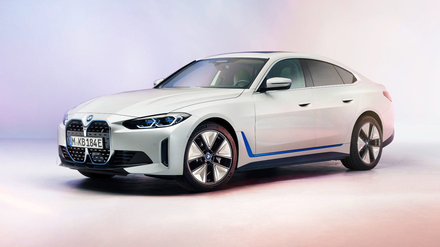 BMW i4 electric four-door coupe showcased in production form