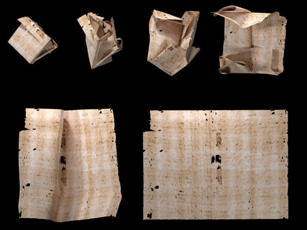 Four 300-year-old letters from the Brienne Collection is virtually unfolded, read