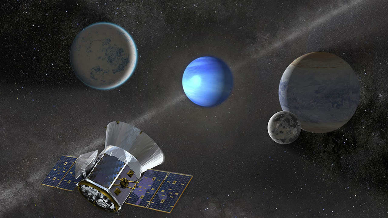 An artist illustration of the TESS spacecraft at work. Image credit: SETI