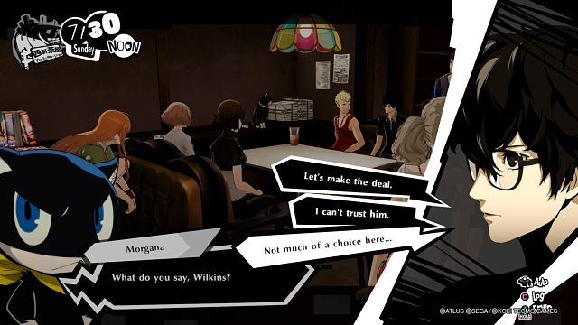 Screen grab from Persona 5 Strikers