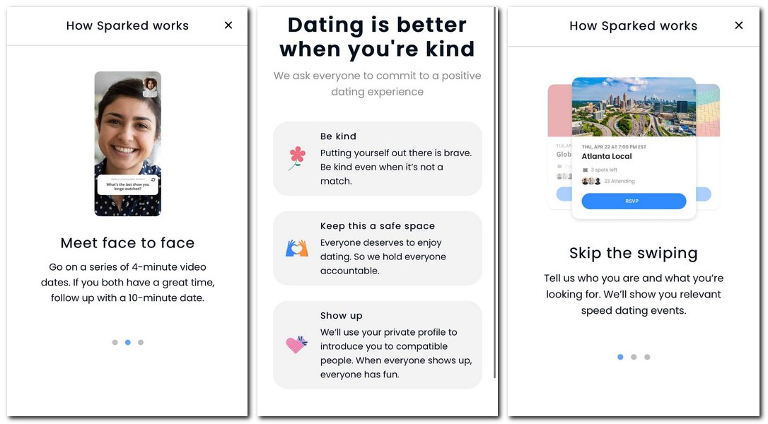 Facebook's Sparked dating app.