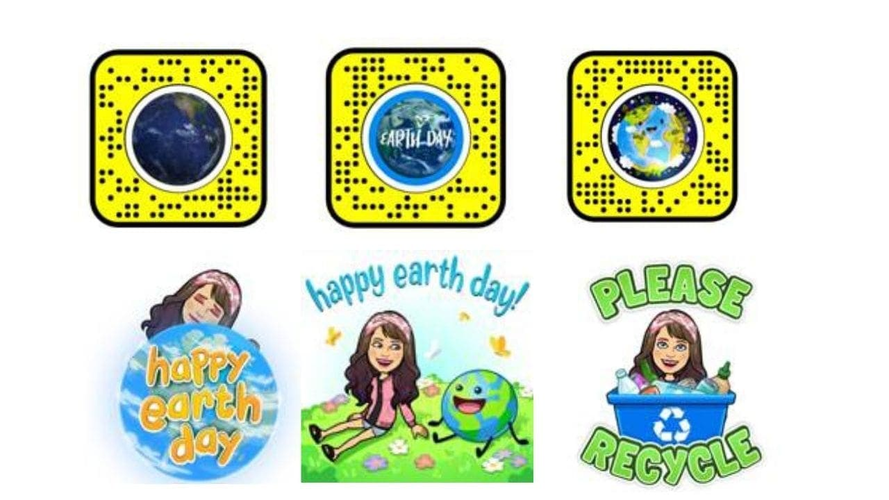 Snapchat Earth Day stickers and AR lenses