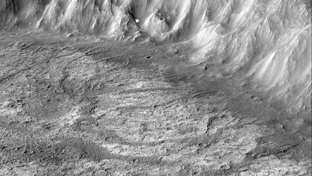 Researchers discover a new type of crater lake on Mars surface