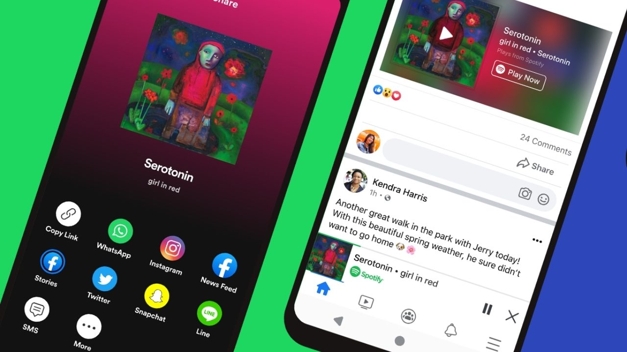 Spotify Premium users can now access their favourite playlists from within the Facebook app.