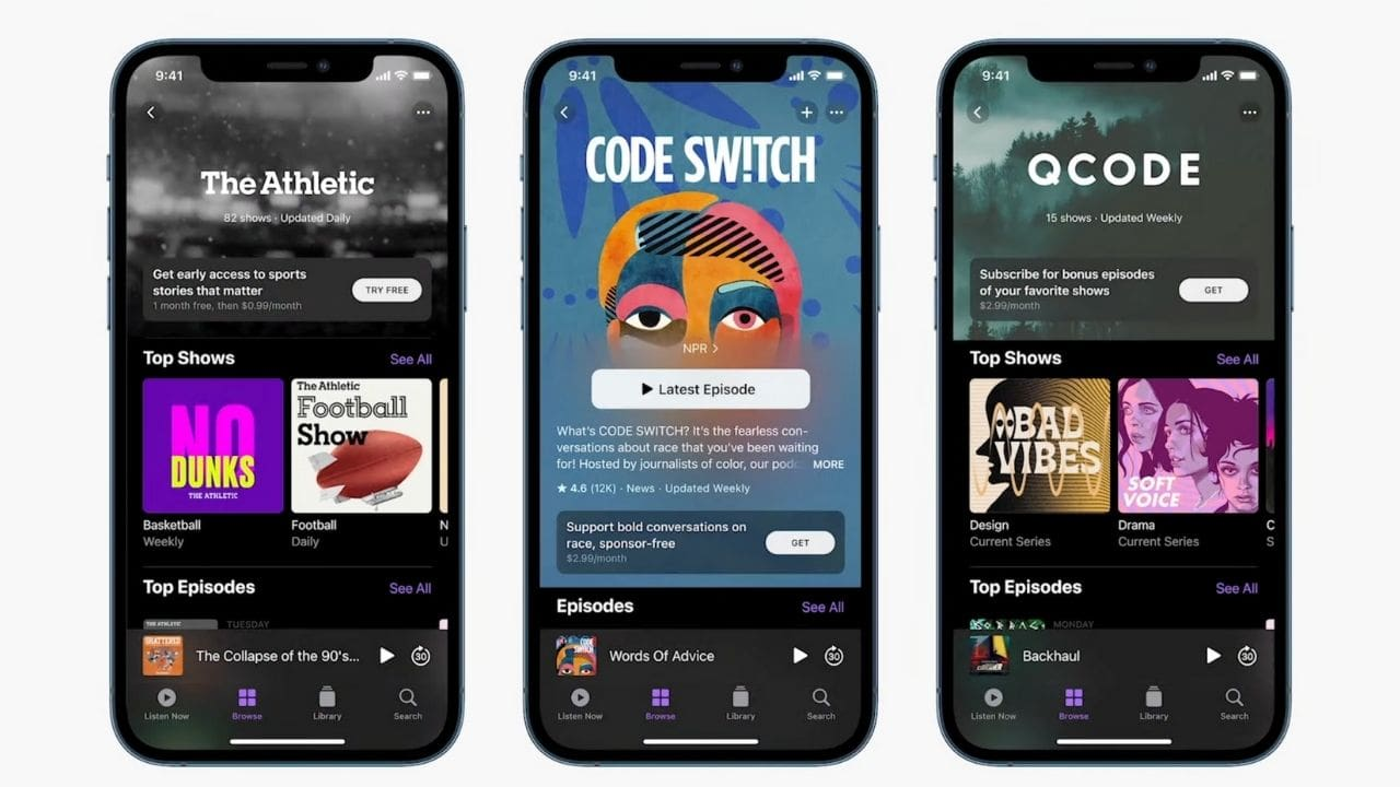 Apple Podcast Subscriptions.