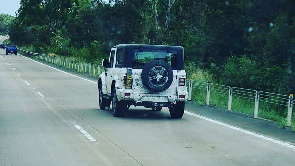The new Mahindra Thar was spotted testing in Australia early in 2021. Image: thenickzeek