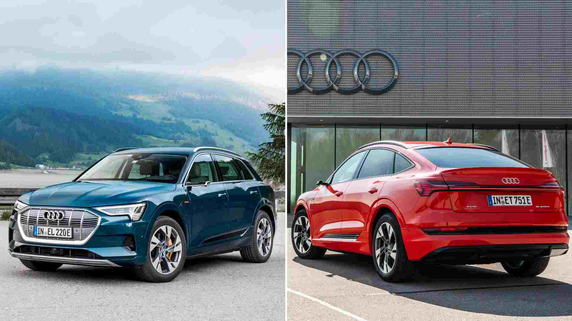 Both the standard as well as the coupe-SUV versions of the Audi e-tron will be offered in India. Image: Audi