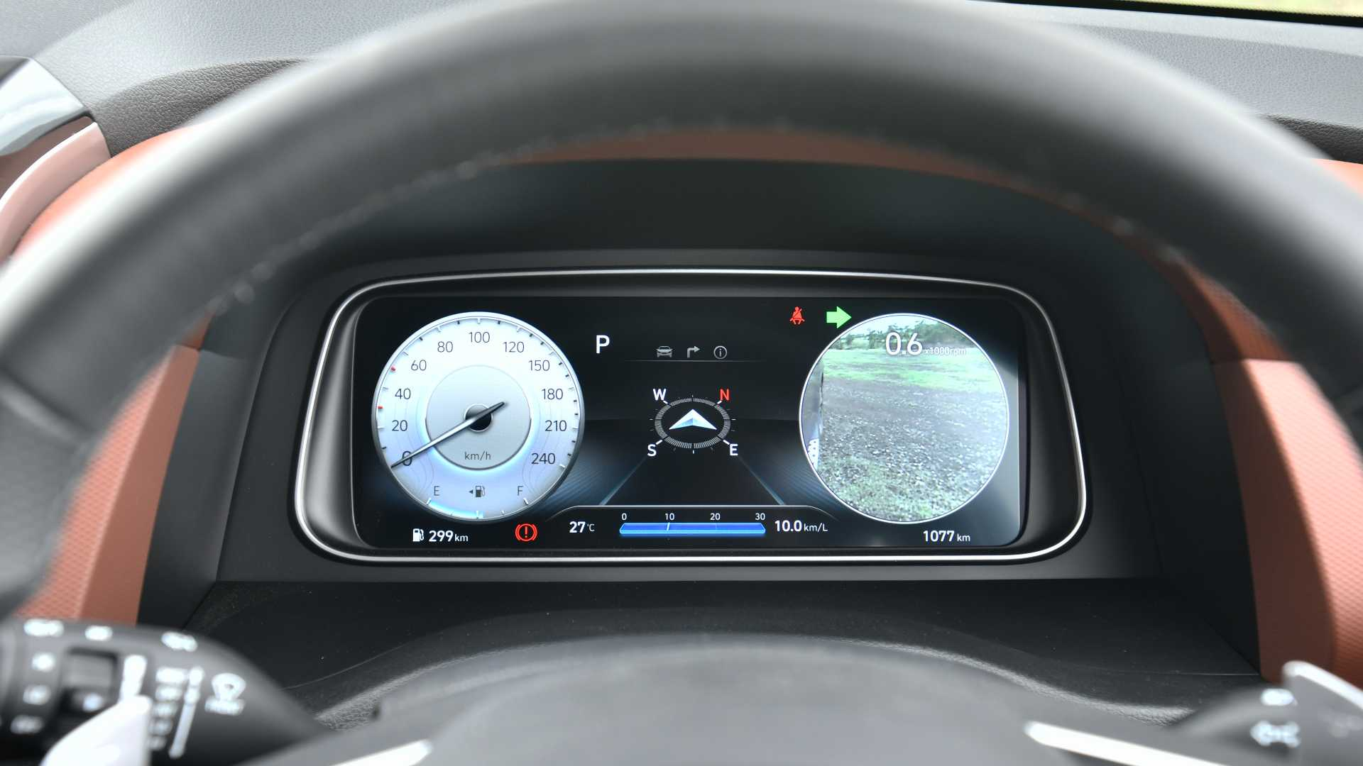 Full-digital instruments display doubles up as the blind spot-view monitor. Image: Hyundai