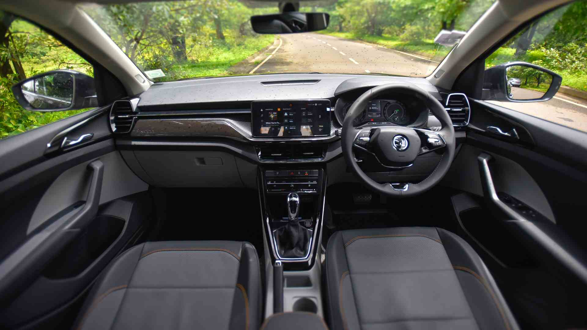 Plastic quality is unremarkable, but on the whole, the interior of the Skoda Kushaq is a great place to be. Image: Overdrive/Anis Shaikh