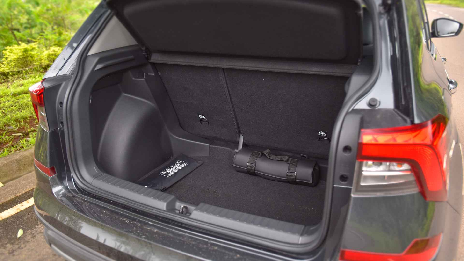 385-litre boot is amongst the smallest in the segment, and the loading lip is high, too. Image: Overdrive/Anis Shaikh