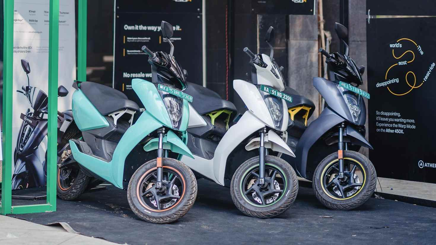 Women now account for 25 percent of all Ather Energy scooter buyers. Image: Ather Energy