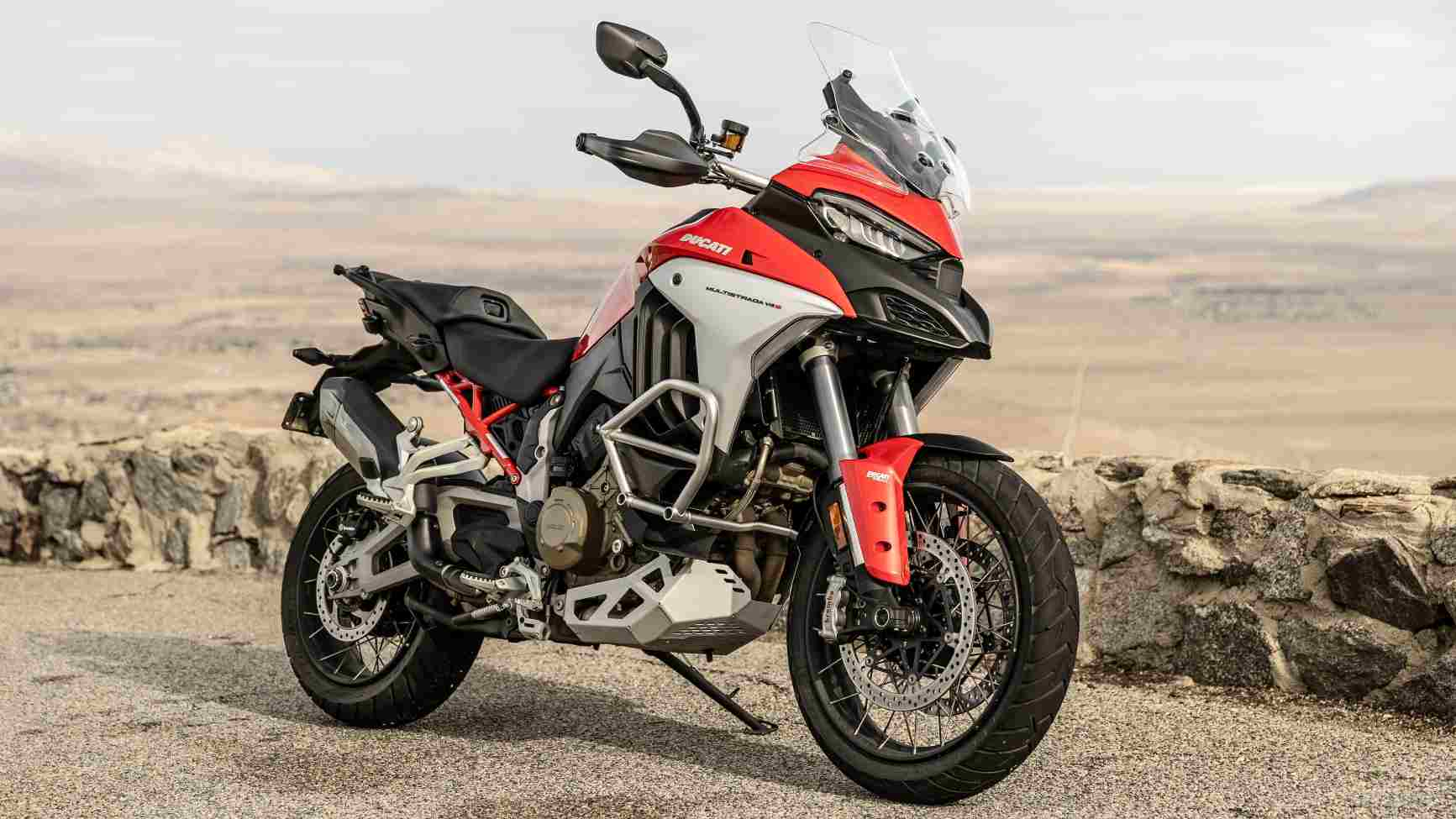 The Ducati Multistrada V4 is the first production motorcycle to feature a front and rear radar rider-assistance system. Image: Ducati