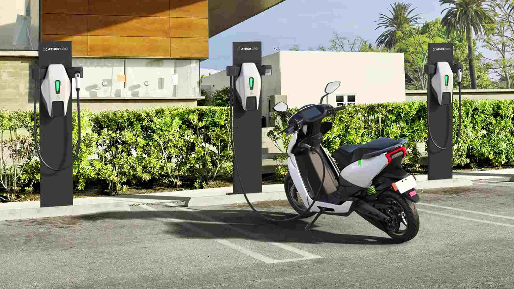 Ather Energy is targeting installation of 500 fast-charging points across India by April 2022. Image: Ather Energy