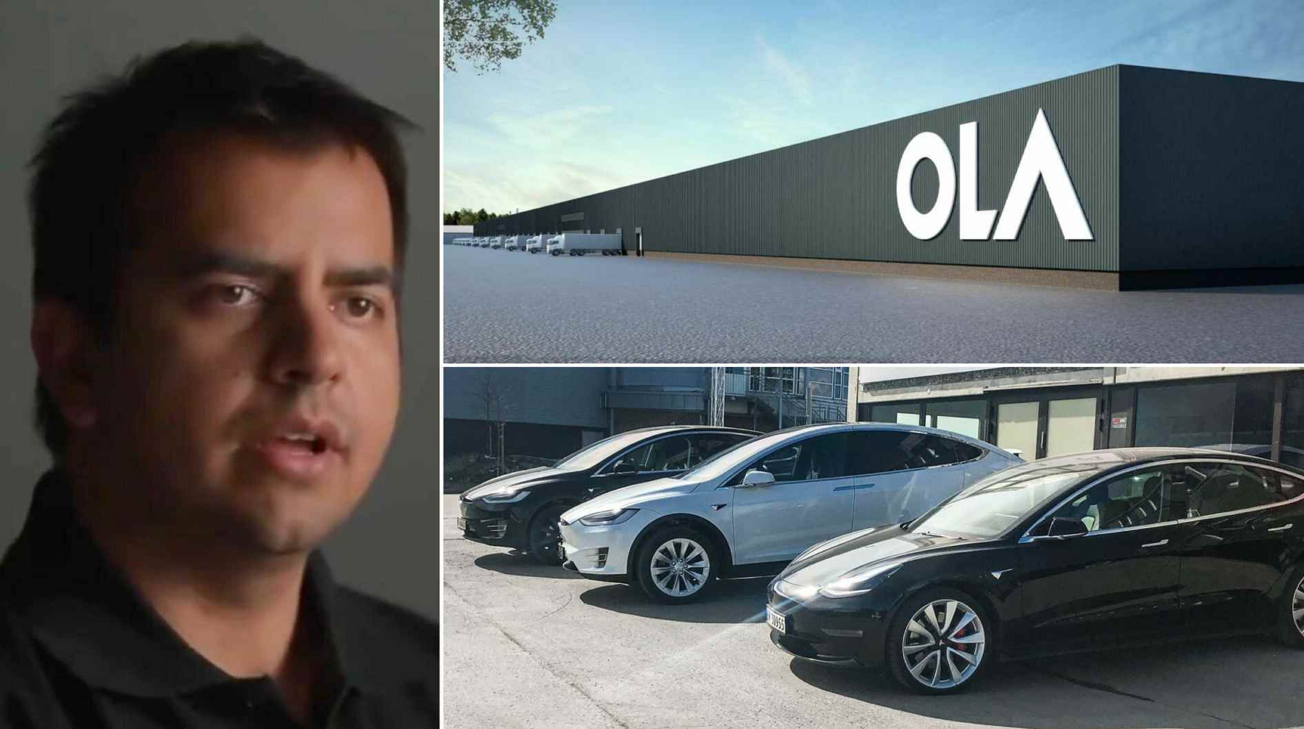 Ola Electric CEO Bhavish Aggarwal has opposed calls for a reduction on import duty for EVs. Image: Ola/Tesla