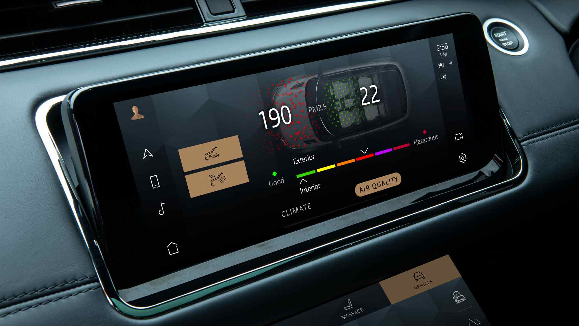The ten-inch Pivi Pro infotainment system is new on the 2021 Range Rover Evoque. Image: Land Rover