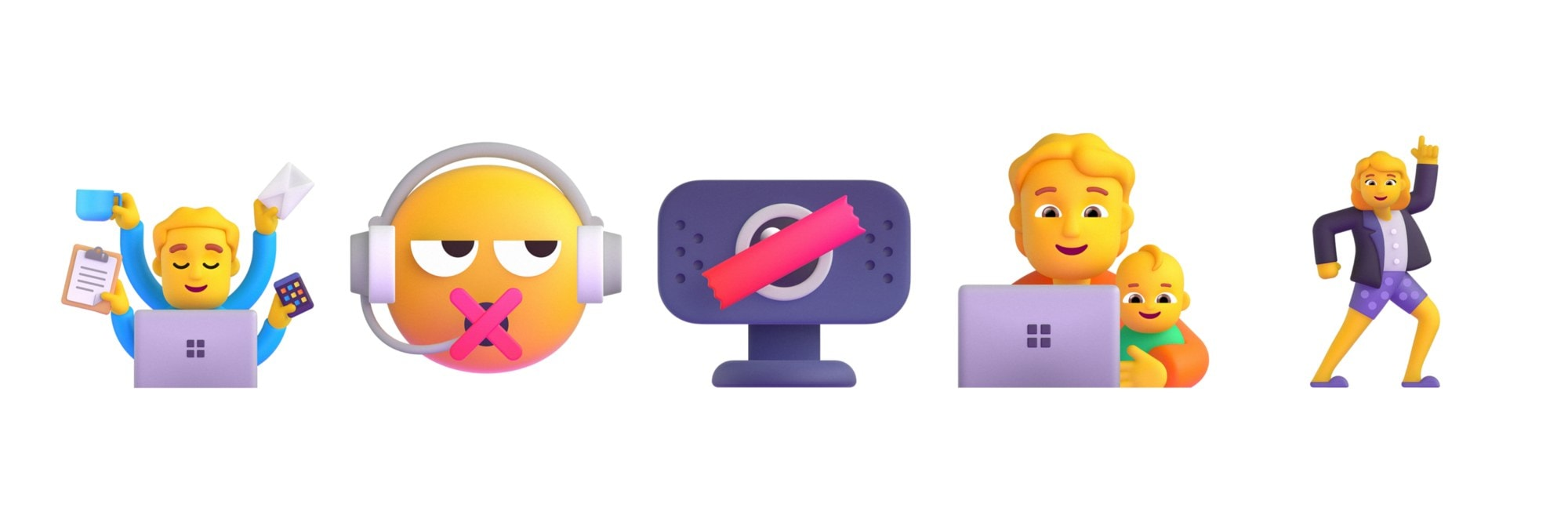 Concept design for workplace appropriate emojis. Image: Microsoft