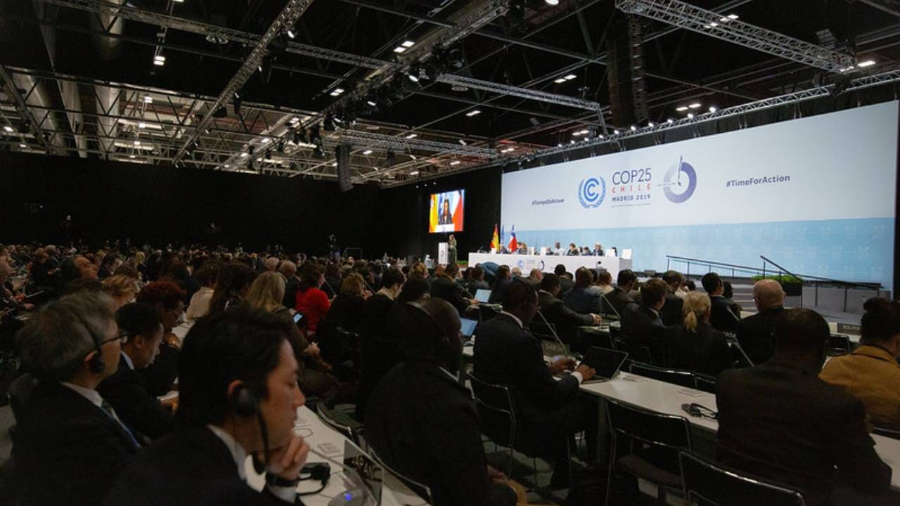 The official opening ceremony of the high-level segment of COP25. The next COP will be held at Glasgow in November 2021. Photo from UNFCCC/Flickr.