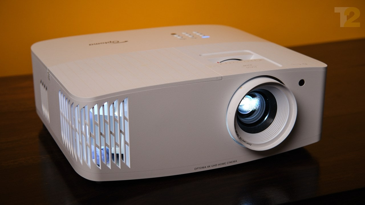 The Optoma UHD35+ projector has a bright and powerful lamp along with a sharp lens. Image: Tech2/Anirudh Regidi