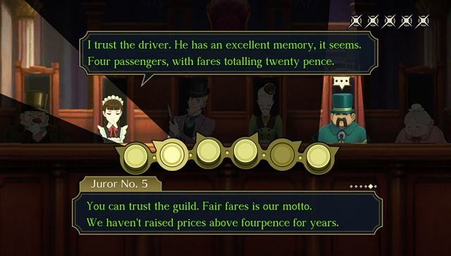 Screen grab from The Great Ace Attorney Chronicles.