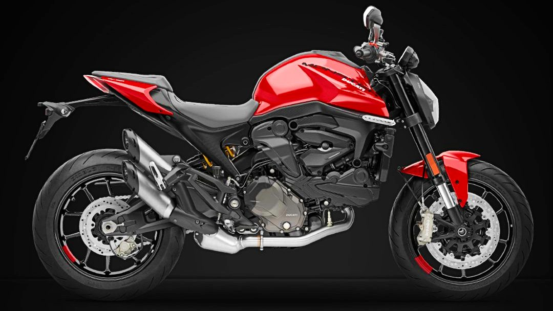 Thanks to a series of weight-saving measures, the new Monster weighs just 188 kg (kerb). Image: Ducati