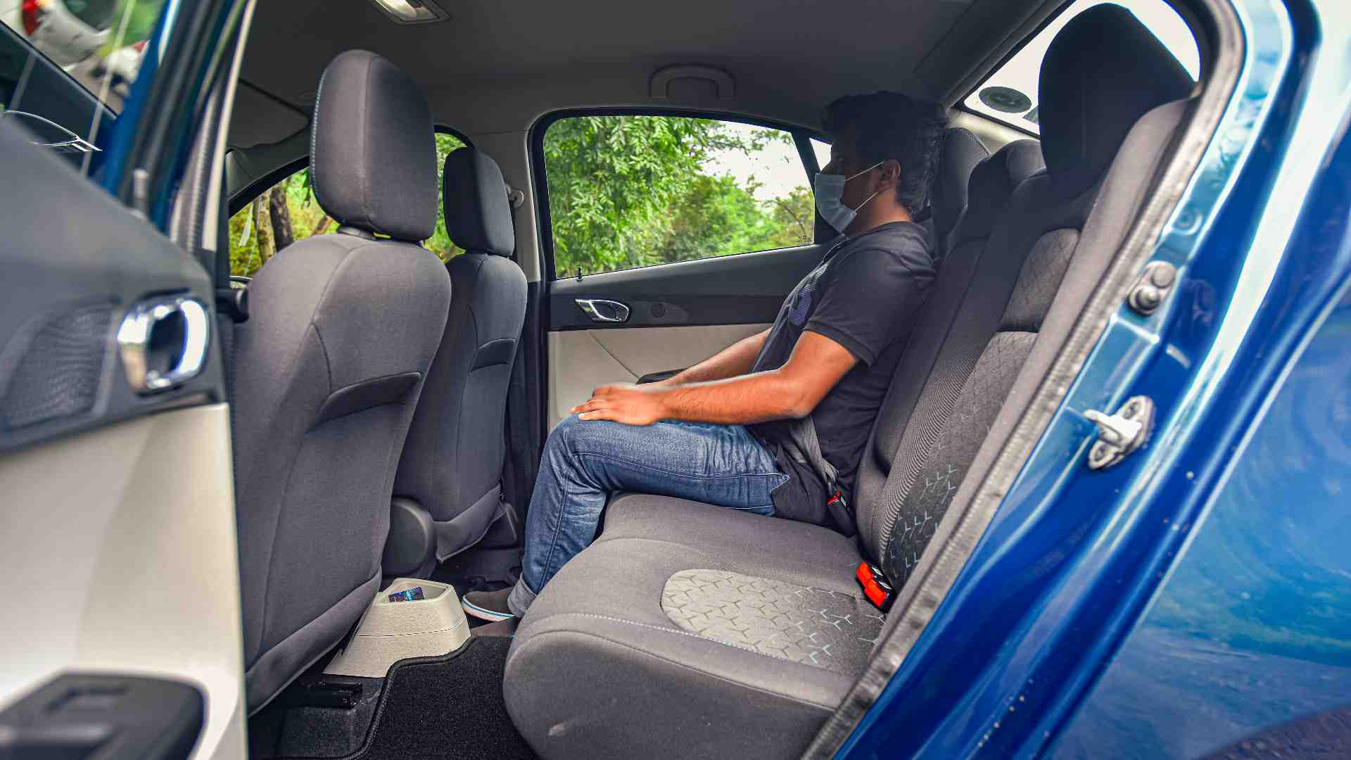 The rear seat in the Tigor EV has enough space for even taller passengers. Image: Anis Shaikh/Overdrive