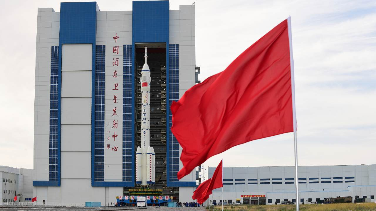 Representational Image. In this photo released by Xinhua News Agency, the Shenzhou-12 manned spaceship with its Long March-2F carrier rocket is being transferred to the launching area of Jiuquan Satellite Launch Center in northwestern China's Gansu province, on Wednesday, June 9, 2021. A three-man crew of astronauts will blast off in June for a three-month mission on China's new space station, according to a space official who was the country's first astronaut in orbit in May. (Wang Jiangbo/Xinhua via AP)